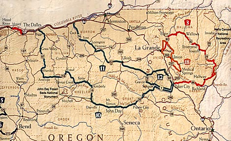 Map Of Northern Oregon